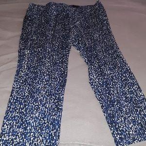 Avenue blue/black matte pull one pants Size 22/24
